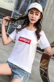 女装T恤6535宽松短袖款