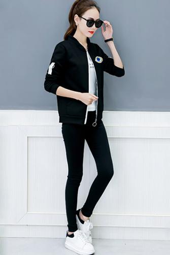 9948#韩版百搭新款韩国宽松显瘦秋冬装加绒加厚女士开衫外套学生