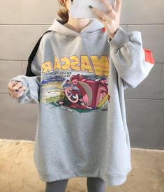 (实拍250克大卫衣)2019韩版加绒加厚大码女装200斤连帽卫衣女