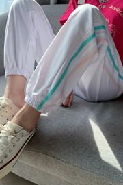 实拍9988运动裤女2021春秋季薄款韩版宽松显瘦束脚休闲哈伦卫裤子