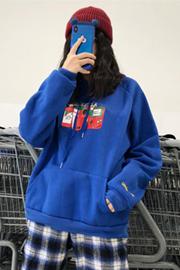 824【实拍 250克加绒 现货】连帽卫衣女厚2018新款秋冬季宽松长袖