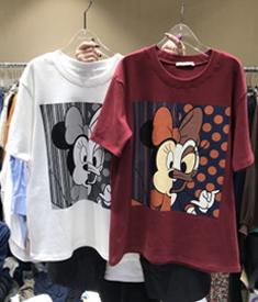 804#【官图】2020春装新款韩版宽松ins显瘦卡通图案短袖T恤女上衣