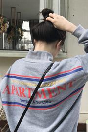 922#(250克加绒 实拍有小视频)长袖卫衣女ins超火上衣外套