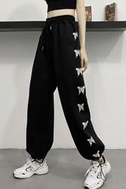 实拍9966运动裤女2021春秋季薄款韩版宽松显瘦束脚休闲哈伦卫裤子