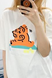 116#短袖t恤女宽松韩版2021新款女装夏装圆领打底外穿显瘦上衣