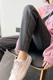 [复合北极绒]加绒运动裤女秋冬卫裤冬季加厚新款女裤外穿棉裤子
