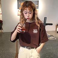 t恤女2019新款韩版chic半袖体恤打底衫ins超火的上衣短袖