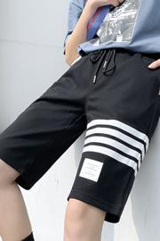 实拍9821夏季新款超火五分裤子字母宽松休闲运动百搭bf短裤女学生