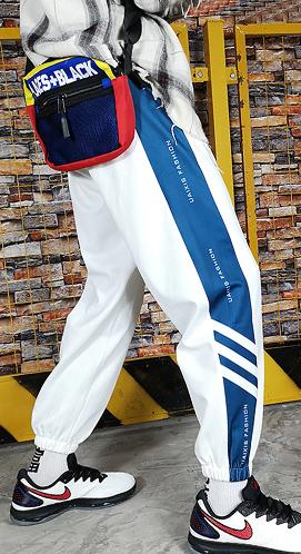 5035#【实拍】2018秋季新款运动裤男女韩版学生宽松bf休闲情侣裤
