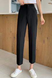 528#实拍九分西装裤女韩版学生休闲直筒裤高腰显瘦2020新款烟管裤