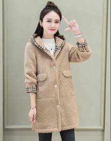 已大量出现货中长款外套2020新款秋冬季韩版宽松大码连帽开衫上衣