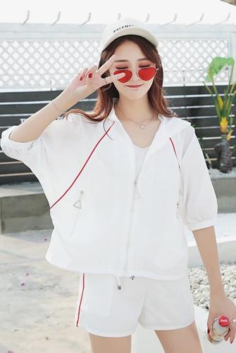 实拍2018夏季新款韩版休闲套装女夏装宽松学生运动服夏天两件套