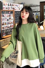 795#2020秋装新款韩版女装上衣潮ins长袖慵懒风套头宽松卫衣