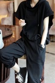 减龄洋气运动套装女士裤时尚休闲两件套气质春夏2021新款货欧洲站