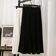 实拍322#春夏韩版中长款百褶A字裙高腰雪纺蛋糕裙很仙的半身裙女