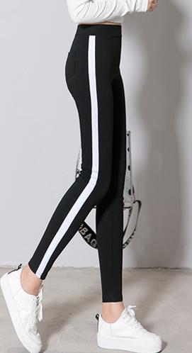 【白条款030#】【银条款031#】【实拍】秋季新款侧边白条打底裤女