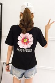 903#(95棉5氨纶)实拍纯棉短袖T恤女2019新款宽松圆领半袖学生夏