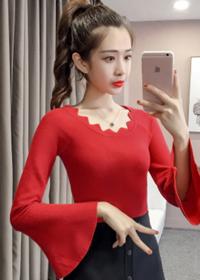 实拍 韩版一字领套头短款毛衣打底衫修身百搭长袖针织衫女A200