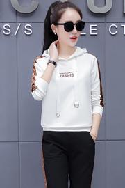 实拍 218  好质量  2018秋季韩版新款刺绣时尚休闲运动套装女