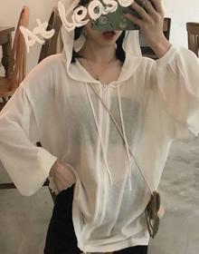 防晒衣连帽女春夏2021新款学生港风纯色显瘦百搭薄款空调衫外套