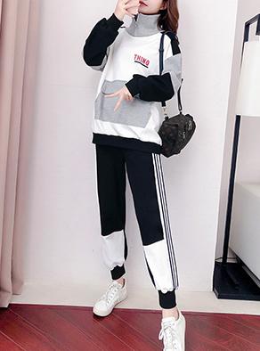 实拍6535鱼鳞休闲套装女新款秋卫衣潮牌减龄酷女孩穿搭两件套洋气