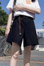 实拍9386#工装短裤女夏宽松直筒bf风休闲嘻哈港风ins潮运动五分裤