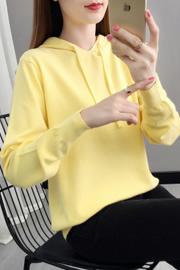 509#实拍2020新款秋季日系韩版宽松莫代尔百搭少女学生薄卫衣连帽