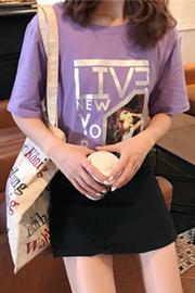 628#【实拍100%纯棉】有视频短袖女2019韩版宽松学生半袖圆领t恤