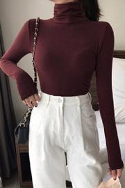 334#纯色高领打底衫女衣服2018新款百搭韩版少女内搭长袖修身上衣