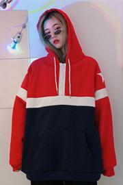 实拍8818#250克 有视频 ins超火卫衣女加绒冬季怪味少女纯色外套