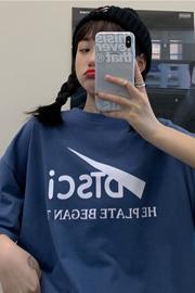 959#*实拍*【65\35拉架棉】短袖t恤女2020夏季宽松大码新款ins潮