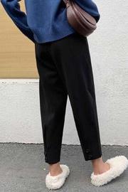 2020秋冬新款哈伦裤女高腰宽松裤子网红奶奶裤九分毛呢小脚萝卜裤