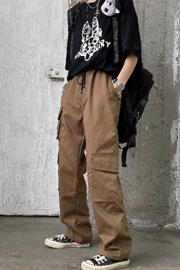 【实拍图】工装裤女宽松bf运动嘻哈直筒束脚显瘦裤子cec