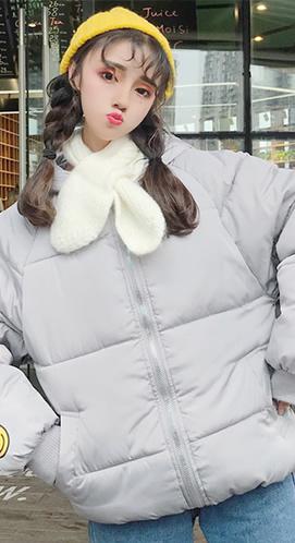 实拍冬装女棉衣短款学生面包服bf宽松韩版原宿风棉袄棉服