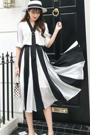 胖mm大码女装夏装新款减龄显瘦藏肉胖妹妹雪纺连衣裙两件套装