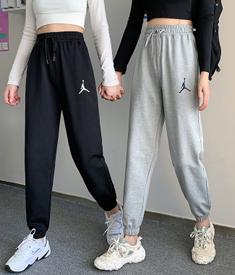 实拍9960运动裤女2021春秋季薄款韩版宽松显瘦束脚休闲哈伦卫裤子