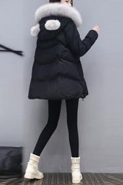冬季新款棉服女装韩版修身中长款羽绒绵衣外套潮中款厚棉袄潮