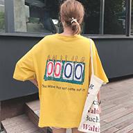 889#【实拍图】6535棉  韩版ulzzang短袖t恤女上衣女服  有小视频