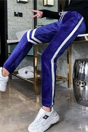 4281#实拍现货大码女装运动裤女2018冬款学生束脚宽松哈伦200斤