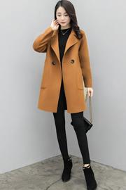 秋冬季毛呢外套女中长款韩版大码呢子大衣宽松显瘦小个子呢子外套