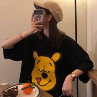 9134【官图】2019夏季新款短袖T恤女宽松卡通印花学生半袖上衣潮