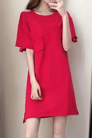 2018新款夏天夏季红色长裙女裙子连衣裙女夏中长款显瘦修身连衣裙