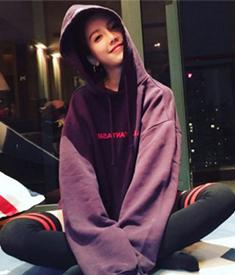 897#官网图销量王加绒连帽卫衣女2018韩版韩版学生BF慵懒风外套