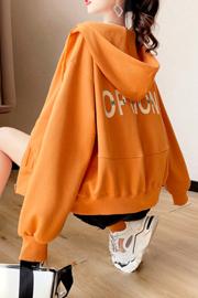 官图【65鱼鳞】2208#双帽宽松短款开衫外套女2021年秋季新款卫衣潮