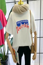 1023# 实拍 6535棉 新款韩版宽松短袖T恤潮