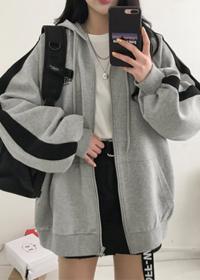 544#【官图 250克大卫衣】加绒卫衣女拉链外套学生连帽上衣宽松开衫