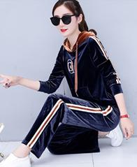 T033# 实拍《带视频》阔腿裤运动套装女秋韩版卫衣套装休闲两件套