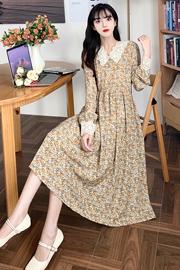 #257实拍实价(有内衬)设计感小众连衣裙温柔系炸街收腰显瘦碎花