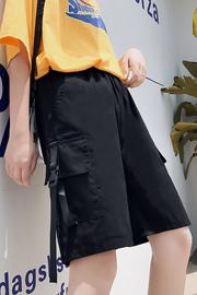 实拍9383#工装短裤女夏宽松直筒bf风休闲嘻哈港风ins潮运动五分裤