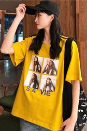127#【实拍100%纯棉】有视频短袖女2019新款宽松学生半袖圆领t恤